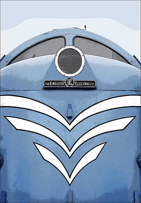 Deltic Dp1 No Border Print by Andrew Greaves