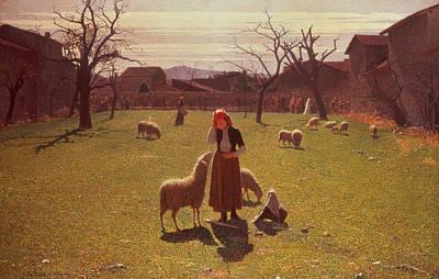 Shepherdess Painting - Deluded Hopes by Giuseppe Pellizza da Volpedo