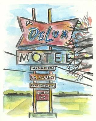 Delux Motel Print by Matt Gaudian