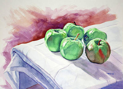 Still Life Painting - Dem Apples by Christopher Reid