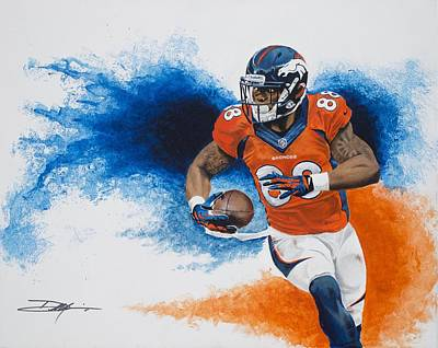 Demaryius Thomas Print by Don Medina