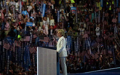 Hillary Clinton Photograph - Democratic Convention by Isabel Menzel