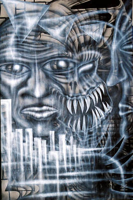 Morph Painting - Demon City by Leigh Odom