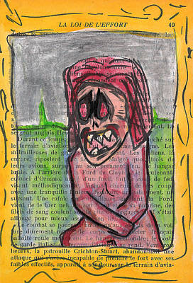 Teeth Mixed Media - Demon Mona Lisa by Jera Sky
