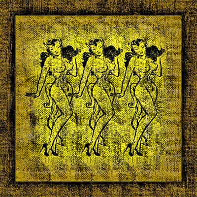 She-devil Mixed Media - Demonios De Oro by Tiki Bender