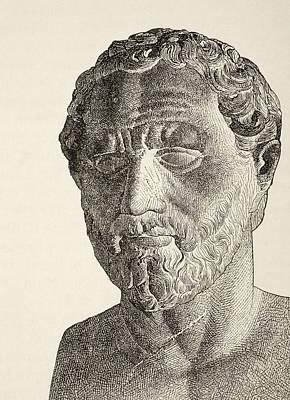 Orator Drawing - Demosthenes, 384 by Vintage Design Pics