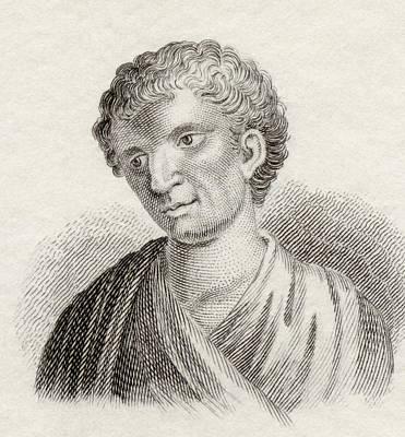 Orator Drawing - Demosthenes, 384 To 322 Bc. Greek by Vintage Design Pics