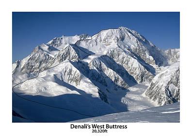 Denali West Buttress Print by Alasdair Turner