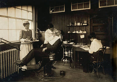 Dental Photograph - Dental Work In A Hospital, Cambridge by Everett