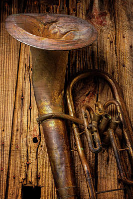 Beaten Up Photograph - Dented Tuba by Garry Gay