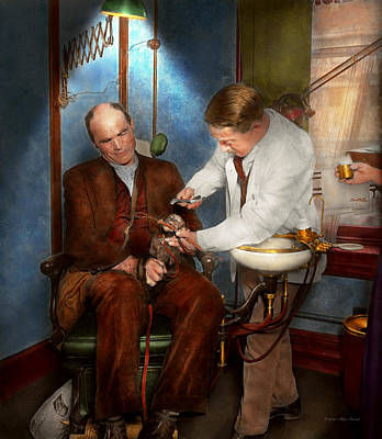 Dds Photograph - Dentist - Monkey Business 1924 by Mike Savad