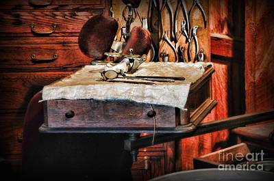 Dds Photograph - Dentist - Mouth Mirror And Extraction Tools by Paul Ward