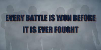 Denver Broncos Battle Print by Joe Hamilton