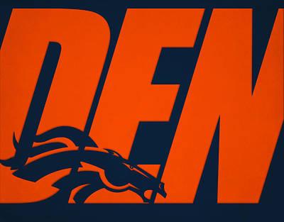 Denver Broncos City Name Print by Joe Hamilton