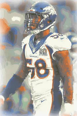Denver Broncos Von Miller 4 Print by Joe Hamilton