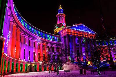 Denver Colorado Holiday Lights Print by Teri Virbickis