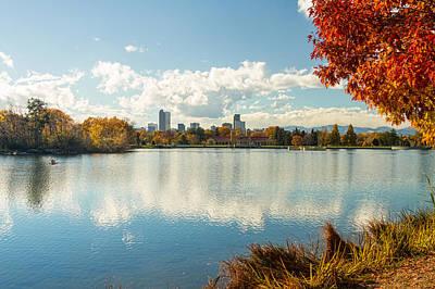 Denver Colorado City Park Autumn Season Views Print by James BO  Insogna
