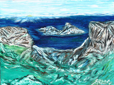 Painting - Depoe Bay by Suzanne Surber