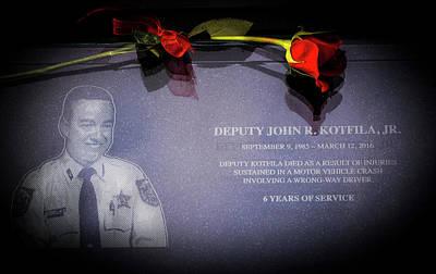 Arrest Photograph - Deputy Kotfila by Marvin Spates