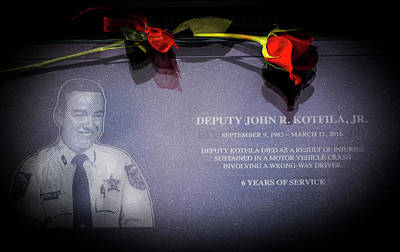 Deputy Kotfila Print by Marvin Spates