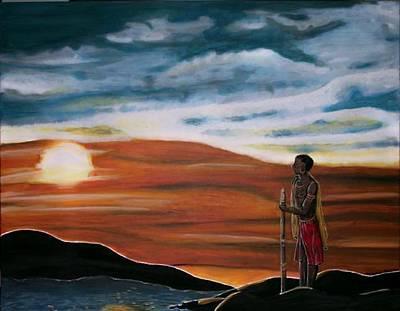 Der Krieger Original by Mamu Art