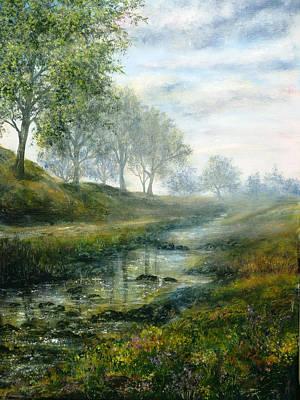 Impressionism Painting - Derbyshire Stream by Ann Marie Bone