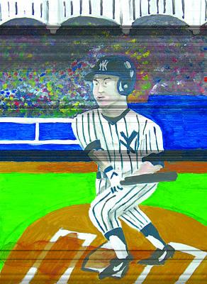 Derek Jeter Painting - Derek Jeter by Jeff Caturano