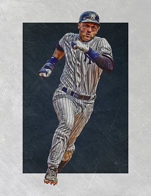 Derek Jeter New York Yankees Art 3 Print by Joe Hamilton