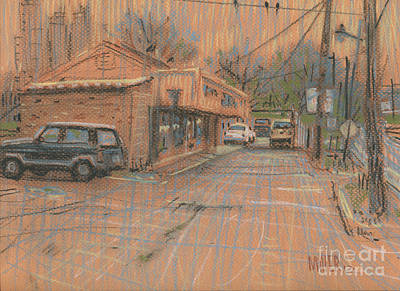 Breakfast Drawing - Derek's Place by Donald Maier