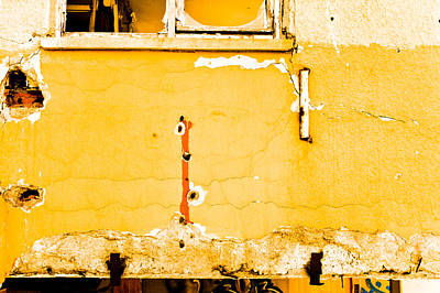 Derelict Building Wall Print by Tom Gowanlock