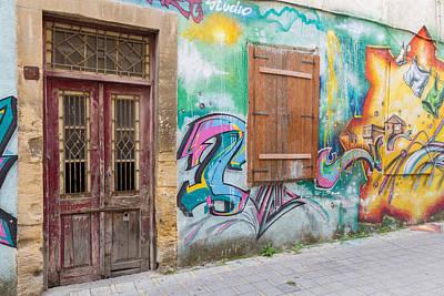 Background Photograph - Derelict Building And Beautiful Street Art 2 by Iordanis Pallikaras