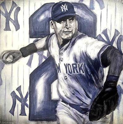 Derek Jeter Painting - Derer Jeter by Carly Jaye Smith