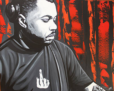 Carter House Painting - Derrick Carter by Justin Robertson