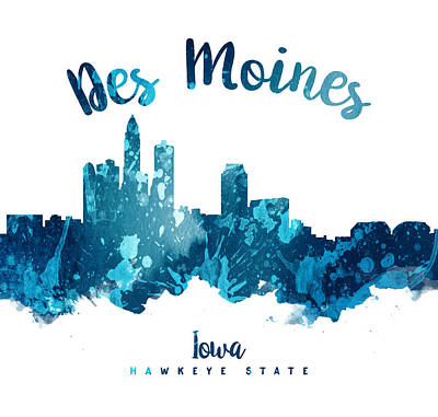 Iowa Digital Art - Des Moines Iowa 27 by Aged Pixel