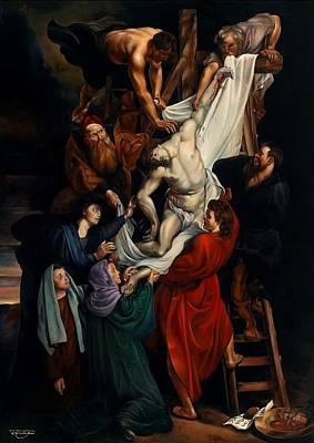 Peter Paul Rubens Digital Art - Descent From The Cross by Keith Martin Johns