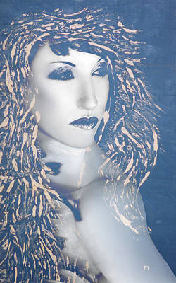 Survivor Mixed Media - Desdemona Blue - Self Portrait by Jaeda DeWalt