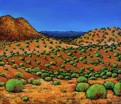 Sagebrush Painting - Desert Afternoon by Johnathan Harris