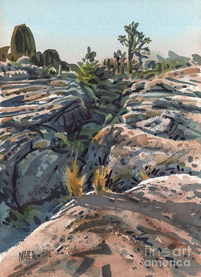 National Park Painting - Desert Boulders by Donald Maier