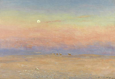 Camel Painting - Desert Caravan by William James Laidlay