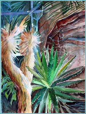 Red Rock Drawing - Desert Conservatory by Mindy Newman
