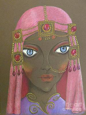 Desert Diva -- Whimsical Arabic Woman Print by Jayne Somogy