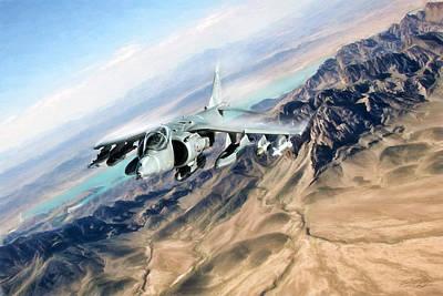 Royal Navy Digital Art - Desert Fox Harrier by Peter Chilelli