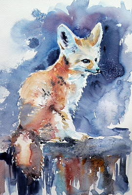 Fox Painting - Desert Fox by Kovacs Anna Brigitta