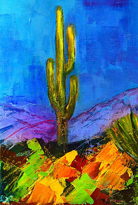 University Of Arizona Painting - Desert Giant by Elise Palmigiani