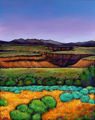 Rivers Painting - Desert Gorge by Johnathan Harris