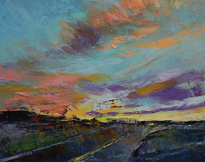 Impressionistic Landscape Painting - Desert Highway by Michael Creese