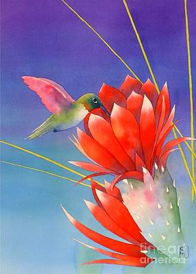Hummingbird Painting - Desert Hummer by Robert Hooper
