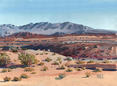Desert Painting - Desert In New Mexico by Donald Maier