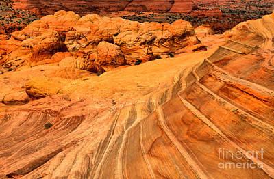 Desert Lines And Brain Rocks Print by Adam Jewell