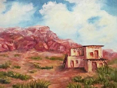 Desert Pueblo Print by Roseann Gilmore